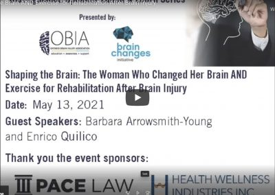 Shaping the Brain AND Exercise for Rehabilitation After Brain Injury